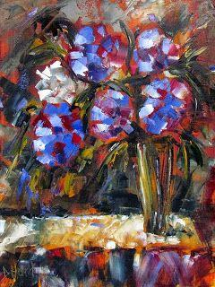 """Flowers in Vase Painting Floral Paintings Still Life Art """"The White One"""" by Debra Hurd"""