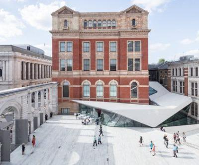 Porcelain Tiles Add a Sleek Modern Accent to AL A's Courtyard Expansion at London's V&A Museum
