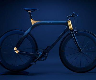 "Design Studio Extans Debuts Beautiful Blue Carbon Fiber ""Akhal Sheen"" Bicycle"
