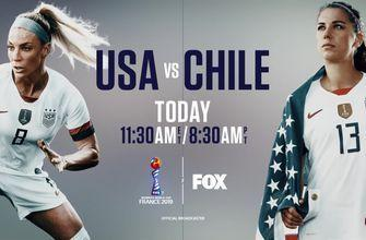 USA vs Chile - Today, 11:30 AM ET | 2019 FIFA Women's World Cup on FOX & FS1