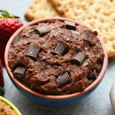 Brownie Batter Sea Salt Edible Cookie Dough Dip
