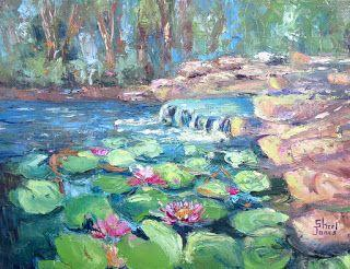 Water Garden, New Contemporary Landscape Painting by Sheri Jones