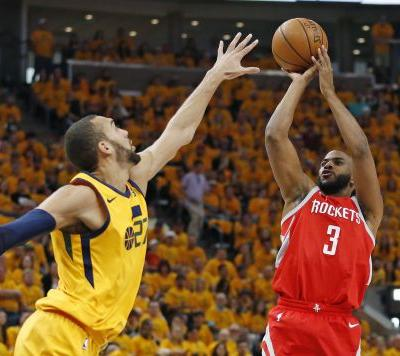 Paul, Harden combine for 51, Houston stifles Utah to take 3-1 series lead