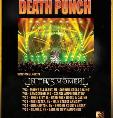 FIVE FINGER DEATH PUNCH Announces July 2019 U.S. Headlining Shows With IN THIS MOMENT
