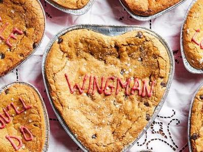 Real Romance is Eating This Whole Cookie Cake for Two