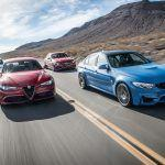 2017 Alfa Romeo Giulia Quadrifoglio vs. 2017 BMW M3, 2017 Cadillac ATS-V, 2017 Mercedes-AMG C63 S - Comparison Tests