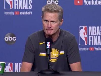 'An incredible win, and a horrible loss': Warriors head coach Steve Kerr reacts to the difficult emotions that came with Golden State's Game 5 victory and Kevin Durant's injury