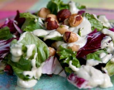 Radicchio Salad with Vegan Ranch Dressing
