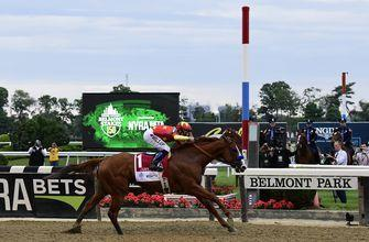Justify goes wire-to-wire at Belmont Stakes to become 13th Triple Crown winner