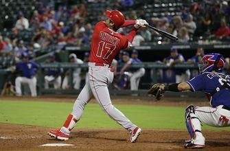Ohtani's big night at the plate leads Angels past Rangers