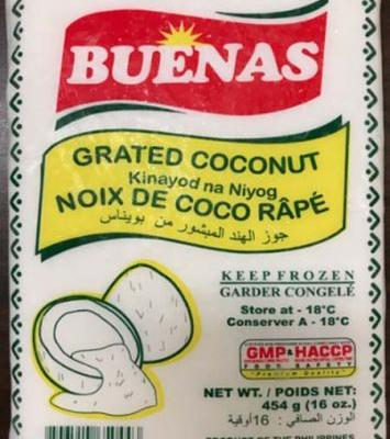 Grated Coconut Recalled
