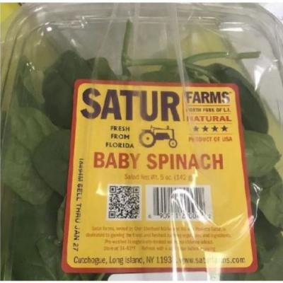 Baby Spinach and Mesclun Recalled for Salmonella