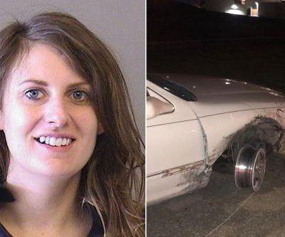 Woman allegedly drove on car rim with margarita in cup holder