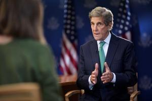 The AP Interview: Kerry says climate talks may miss target