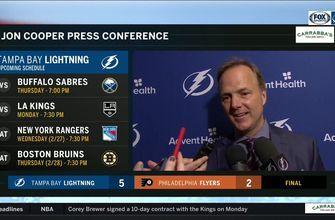 Jon Cooper recaps how Lightning put Flyers on their heels early to get the win in Philly