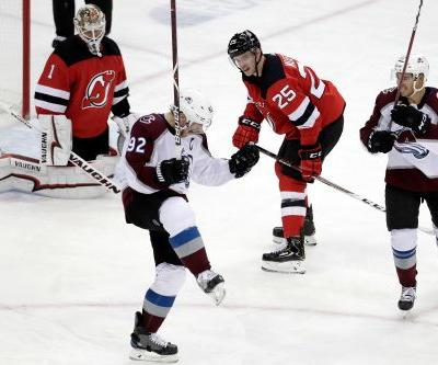 Devils suffer first loss as Avalanche star scores hat trick