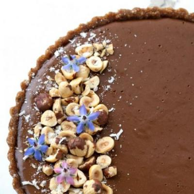 Chocolate Chia Tart with Hazelnut