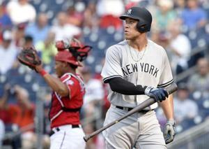 Soto, Hicks HRs give Nats, Yanks unusual doubleheader split