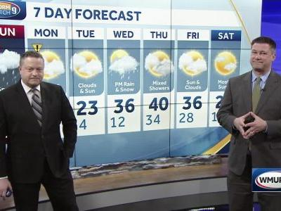 Watch: Granite Staters contending with snow, icy mix