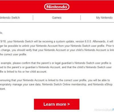Switch Firmware Version 6 To Launch Tuesday Ahead Of Online Service