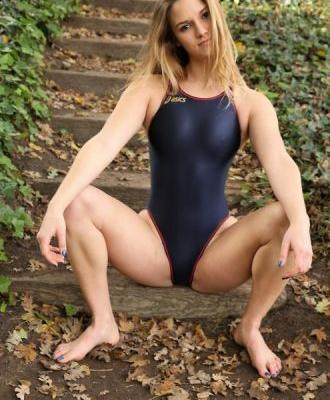 Theskipnoddy: Stephanie Swimsuit Heaven Dark Blue Asics One