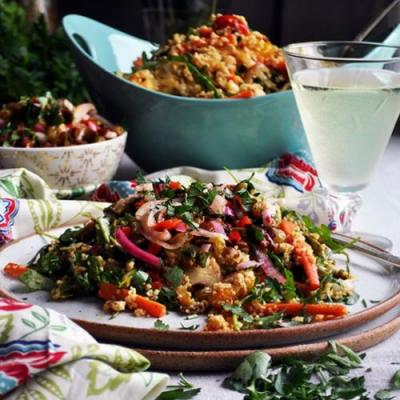 Couscous Salad with Spring Veggies