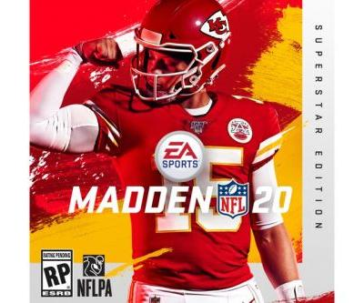 2018 MVP Patrick Mahomes Is the Cover Star of 'Madden NLF 20'