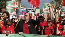 Los Angeles Teachers Set To Begin Massive Strike On Monday