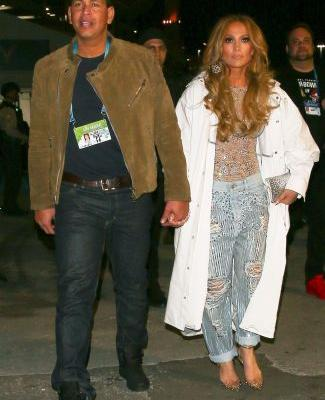 J.Lo Changed Into Low-Rise, Anti-Skinny Jeans for the Super Bowl After-Party