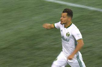 Sebastian Blanco scores and ties it up for the Portland Timbers vs. Seattle Sounders   Audi 2018 MLS Cup Playoffs