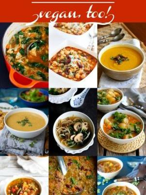 10 Vegetarian Soup Recipes {Vegan, Too!}