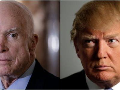 Trump reportedly won't comment on McCain while he's still alive, and repeatedly says he should step down from his Senate seat