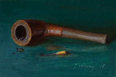 Tobacco pipe still life daily painting a day small work of art