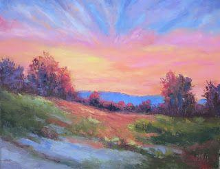 Rich Morning Light, New Contemporary Landscape Painting by Sheri Jones