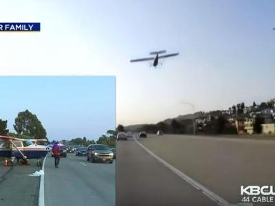 Here's The Moment A Plane Landed On A Busy Freeway