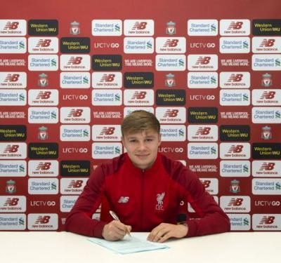 Liverpool starlet Paul Glatzel signs first professional contract