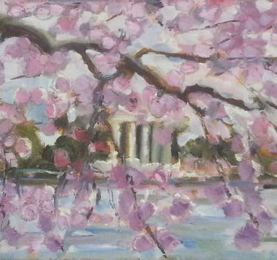 Jefferson Memorial at Cherry Blossom Time