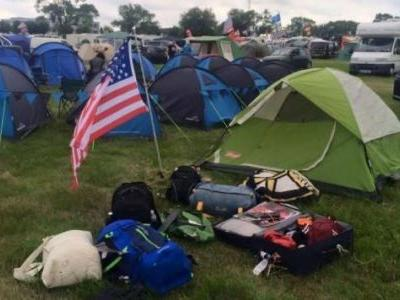 How to Camp at the Track When You Hate Camping
