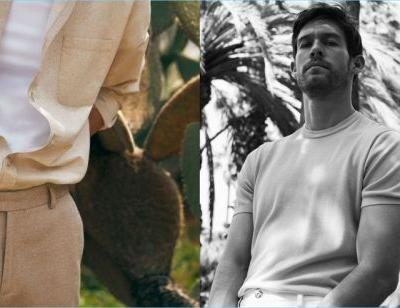 Tropical Element: Josh Upshaw Dons Summer Style for Massimo Dutti