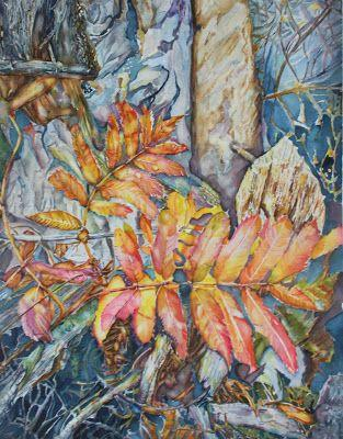 """Autum Magic"" - Large Watercolor on 300 lb Fabriano Artistico by Christiane Kingsley"