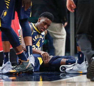 Indiana Pacers star Victor Oladipo taken from court after suffering knee injury