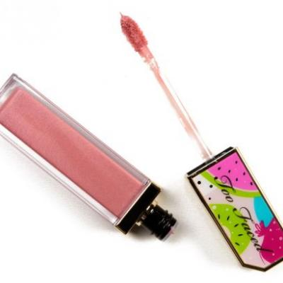 Too Faced Grin & Bare It, Home Slice, Show Me Your Coconuts Juicy Fruits Lip Glaze Reviews & Swatches