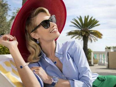 These Chopard sunglasses are so dazzling, you'll need to put them on