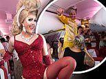 Family-of-four find themselves on Virgin Atlantic's sold-out 'Pride Flight' from London to New York