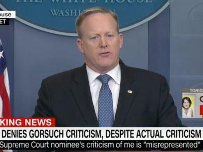Spicer gets into heated exchange with reporters after insisting Gorsuch's comments had nothing to do with Trump