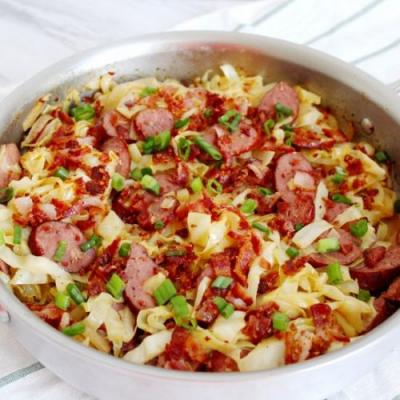 Braised Cabbage with Kielbasa