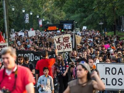 Hundreds of demonstrators gathered in Charlottesville 1 year after the deadly Unite the Right rally - here's how the day unfolded