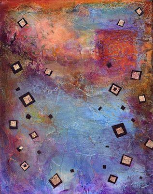 "BOGO - Mixed Media Abstract Painting,Contemporary Art, ""Walking the Spiral"" by Santa Fe Contemporary Artist Sandra Duran Wilson"