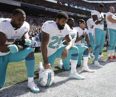 Dolphins' anthem protesters can get 4-game bans: leaked policy
