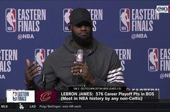 Down 0-2, LeBron James doesn't expect to lose any sleep